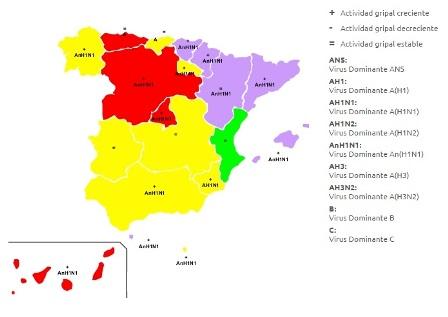 Si viaja recuerde que la gripe ya está expandida en gran parte de España