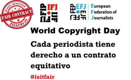 Los periodistas españoles se unen a la campaña internacional sobre derechos de autor y contratos justos